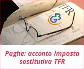 Acconto imposta sostitutiva sulla rivalutazione del TFR