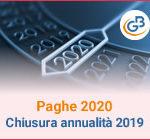 Paghe GB Web 2020: chiusura annualità 2019