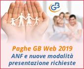 Paghe GB Web 2019: Gestione ANF e nuove modalità di presentazione delle richieste