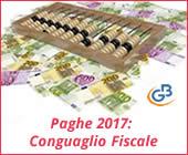 Paghe GB Web 2017: Conguaglio Fiscale