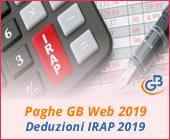 Paghe 2019: Deduzioni IRAP 2019