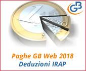Paghe GB Web 2018: Deduzioni IRAP
