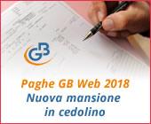 Paghe GB Web 2018: inserimento nuova mansione in cedolino