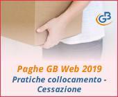 Paghe GB Web 2019: Pratiche di collocamento - Cessazione