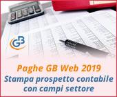 Paghe 2019: Stampa prospetto contabile con campi settore