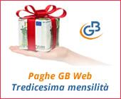 Paghe GB Web 2018: Tredicesima mensilità