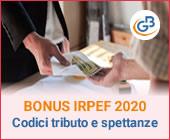 Bonus Irpef 2020: a chi spetta e quali sono i codici tributo?