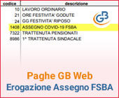 Paghe GB Web 2020: Caso pratico - Erogazione Assegno FSBA COVID-19