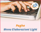 Paghe GB Web: menu Elaborazioni Light
