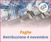 Paghe GB Web: retribuzione festività 4 novembre 2019