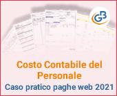 Costo Contabile del Personale: caso pratico paghe web 2021