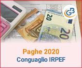 Paghe GB Web 2020: Conguaglio Irpef in busta paga
