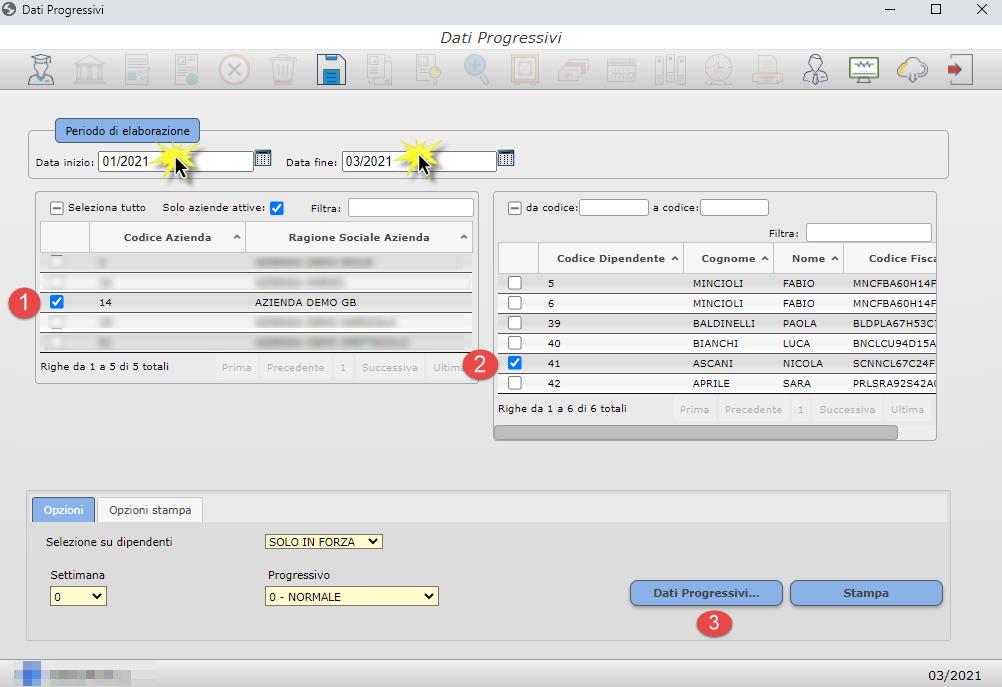 Gestione Progressivi: Paghe web GB: Paghe web GB: Inserimento Progressivi