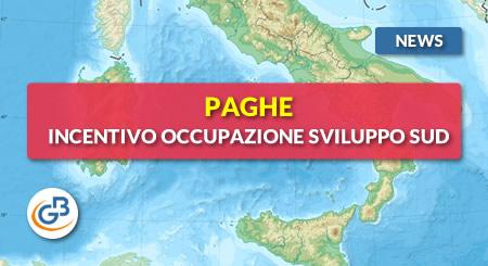 News - Paghe: Incentivo Occupazione Sviluppo Sud 2019
