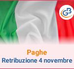 Paghe: Retribuzione Festività 4 novembre